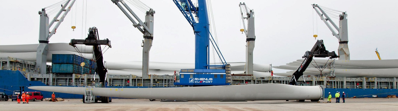Rhenus Phillipines - Huge Crane and part of Wind Turbine