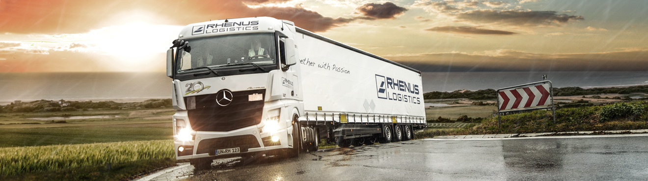 Rhenus Phillipines - Transport truck and sunset